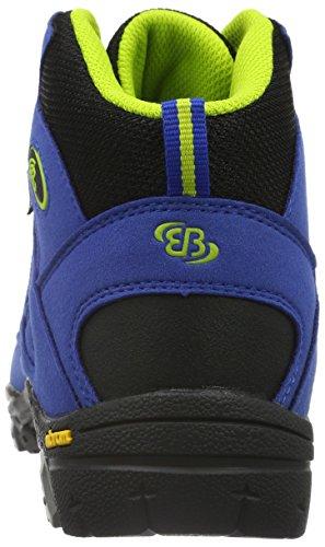 EB kids Ohio High, Scarpe da Arrampicata Bambino Blu (Blau/schwarz/lemon)