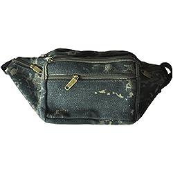 Gleader Ninos Ninas Ninos Camo cintura de la lona BUM bolsa de viaje de vacaciones NUEVA Seguridad - Ejercito Verde