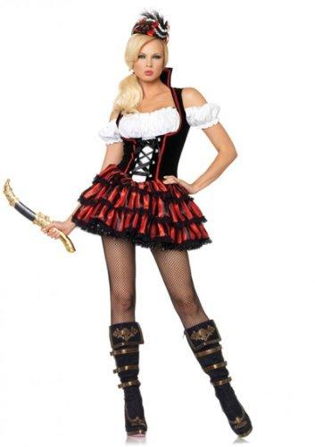 Leg Avenue Shipwreck Pirate Kostüm M, 1 - Pirate Halloween-kostüme Adult