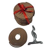 ELECTROPRIME Box of 60mm Natural Incense (180min) Spiral Coils Incense Sandalwood