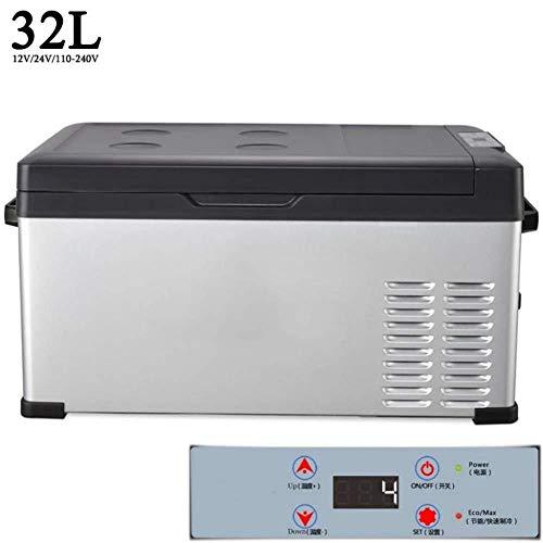 iCool Elektrische DC/AC-Heiß- oder Kaltkühlbox, tragbare 32-l-Kompressor-Kühl- / Gefrierkombination, Touchscreen-Steuerung, Kühlbox, Eisgetränk-Lebensmittelkühler for die Heimreise im Wohnheim