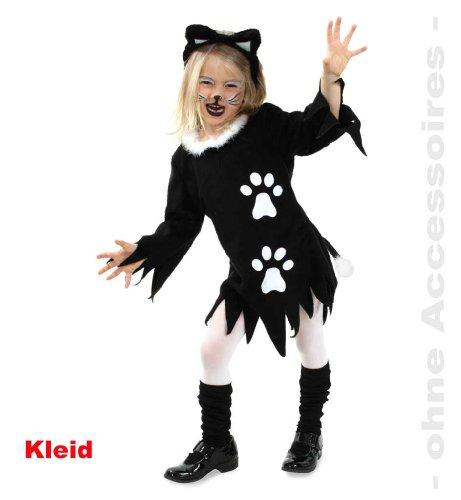 Kätzchen Kleid Katze Plüsch Mädchen Kostüm Gr. 128