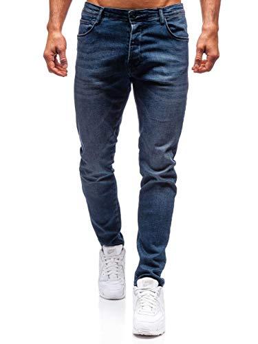 BOLF Herren Jeanshose Freizeit-Hose Casual Style Breezy 7165 Dunkelblau 29 [6F6] | 05902646949147