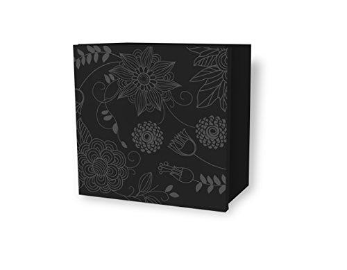 Aleghe primavera–mobiletto da bagno, colore: nero lucido