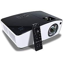Proyector Tiro Corto, NIERBO 3D 1080p Proyector 8000 Lúmenes 2000 ANSI (80 pulgadas a 1m , Proyector para cine en casa para exterior