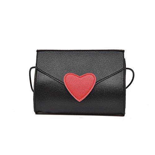 Meoaeo La Nuova Spalla Pacchetto Xiekua Grazioso Piccolo Cuscino Fresco Bag Sacca Estate Semplice Spalla Tutti-Match Fashion Nero black