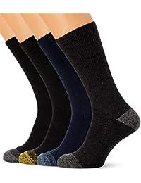 Francis McIntyre FM London - Calcetines de trabajo para hombre (12 pares) FM resistentes, calcetines de trabajo de algodón con talón reforzado y puntera