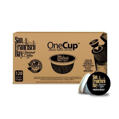 San Francisco Bay Coffee OneCup for Keurig K-Cup Brewers, French Roast - 160 Count by San Francisco Bay Coffee