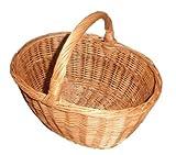 PP, cestino in vimini, cesta in vinco per raccolta funghi (KZA119, piccolo cestino da funghi)