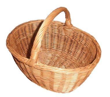 La cesta se caracteriza con alta calidad El producto es en 100% hecho a mano y de excelente, mimbre trenzado. ha sido cuidadosamente y con mucha experiencia. longitud: 39cm, ancho: 31cm Altura: 20cm, Altura con el mango: 34cm