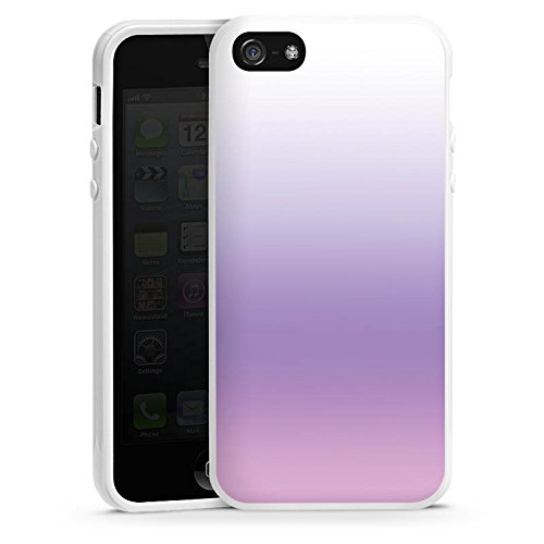 Apple iPhone 5s Housse étui coque protection Lilas Housse en silicone blanc