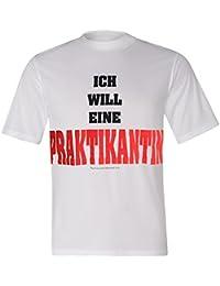 """BRUBAKER Fun Shirt mit lustigen Sprüchen - """"Ich will eine Praktikantin"""" Weiß Baumwolle Gr. M - XXL"""