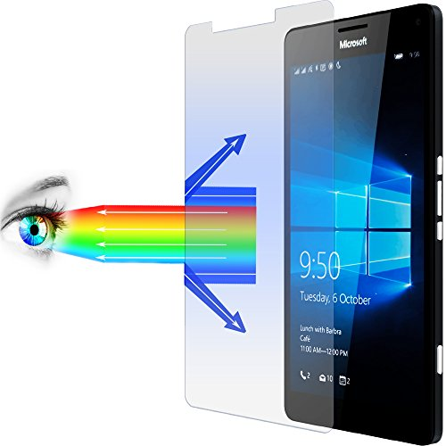 Preisvergleich Produktbild 2 x PROTOMAX 9H Schutzglas für Microsoft Lumia 950 XL, BLAULICHTFILTER PROEYE, Glasfolie Displayschutz (2er Pack)