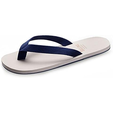 Estate allaperto infradito uomo/Casuale infradito/Versione coreana dellattuale morbide pantofole/Anti-scivolamento pizzicare scarpe spiaggia Inghilterra