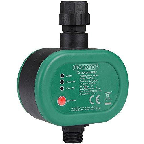 Monzana Druckschalter Druckwächter Pumpe Pumpensteuerung Hauswasserwerk Automatisch max. 10 bar