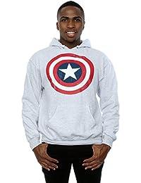 Marvel Homme Captain America Distressed Shield Sweat à capuche