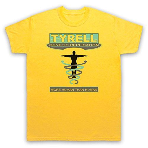 Inspiriert durch Blade Runner Tyrell Corp Unofficial Herren T-Shirt Gelb