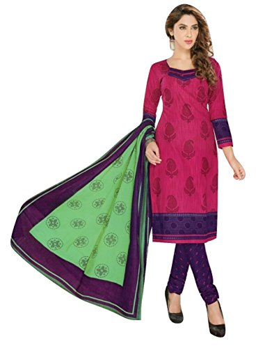 Shalibhadra pink color top with multi color duppata and purple color salwar...