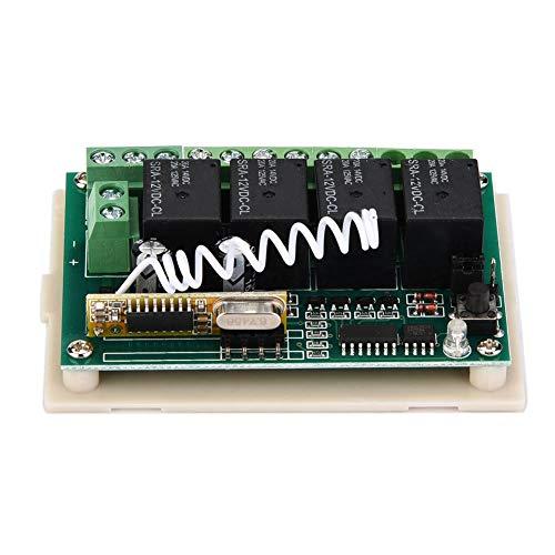 4CH Funkfernschalter,DC 12V Relais,Wireless Remote Control Switch mit Fernbedienungssender/Lerncode Empfänger/drahtloser Codierungstechnologie für Autotür/Fenster/Hebezeuge usw. Dc 12v Wireless Remote