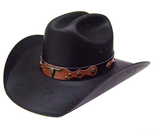 modestone-unisex-traditional-straw-sombrero-vaquero-black