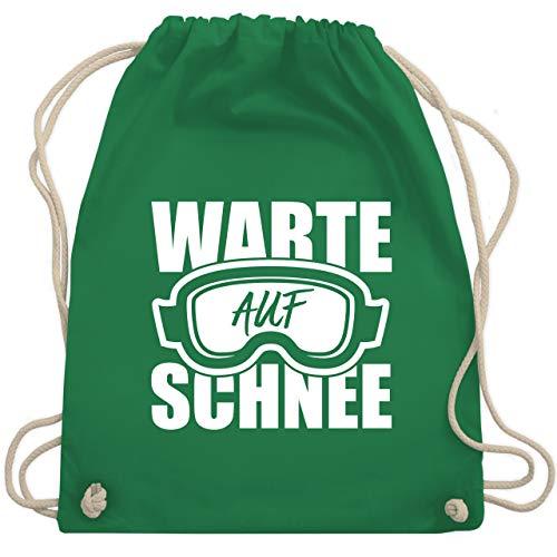 Sport Kind - Warte auf Schnee - Unisize - Grün - WM110 - Turnbeutel & Gym Bag -