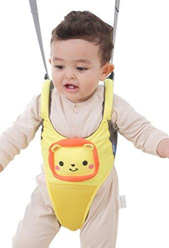 Happy Cherry Unisex Baby Walking Assistant Lauflernhilfe Sicherheitsgeschirr Kleinkind Abnehmbarer Griff Auffanggurt für Baby 10-18 Monate-Löwe