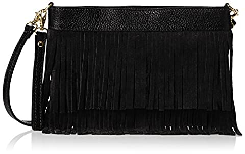 Girly Handbags Womens Gina Cross-Body Bag Black