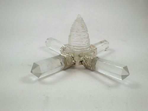 new-year-sale-clear-quartz-energy-generator-with-meru-shree-yantra-natural-gemstone-stone-four-point
