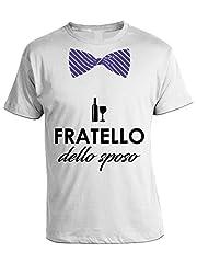 Idea Regalo - bubbleshirt Tshirt Matrimonio Fratello dello Sposo - Humor - in Cotone