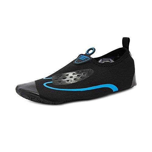 Unisexe Chaussure de Sport Chaussons Femme Homme Natation Yoga Gym Course Plage Noir Bleu-Etiquette 40-EU 39