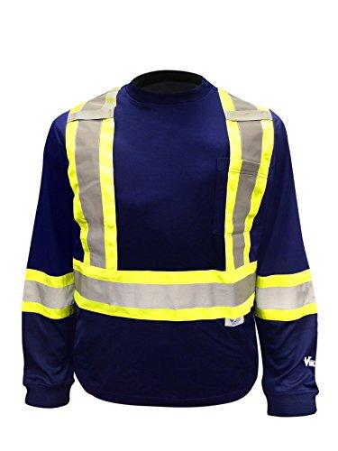 Viking Safety Cotton Lined Long Sleeve Shirt - Crew-long Sleeve Work Shirt