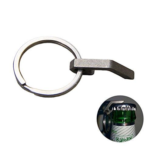 Neue Titan Mini EDC Tasche Flaschenöffner Schraubendreher Keychain Überlebenswerkzeug