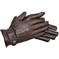 Riders Trend Prime Quality Leather Gloves - Guantes de equitación, Color Chocolate, Talla L