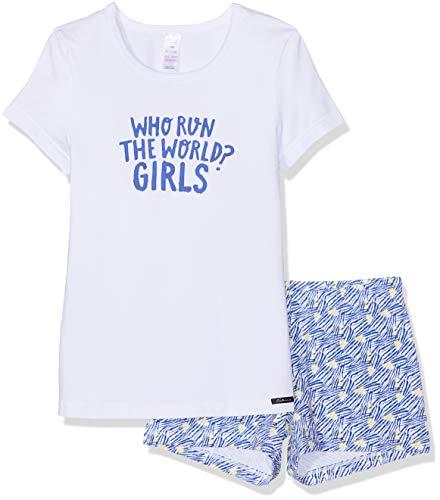 Skiny Mädchen Cosy Night Sleep Girls Pyjama kurz Zweiteiliger Schlafanzug, Mehrfarbig (White 0500), Herstellergröße:152