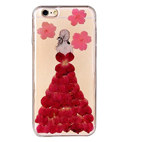 """iPhone 6sPlus Schutzhülle, iPhone 6Plus Soft TPU Handytasche, CLTPY Modisch Durchsichtige Rückschale im Getrocknete Blumenart, [Stoßdämpfung] & [Kratzfeste] Full Body Case für 5.5"""" Apple iPhone 6Plus/ Floral 24"""
