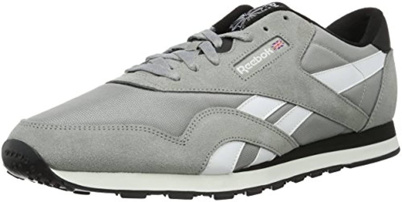 Reebok Herren Classic Nylon Tracksuit Low Top  Grau (Mgh Solid Grey/White/Black)  40.5 EU