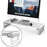 TATE GUARD Verstellbarer Aluminiumlegierung Computer Monitorständer für Monitorständer zum Anheben von Monitoren,Universal Computer Monitorständer,Ergonomisches Design,Aufbewahrung für Tastaturen