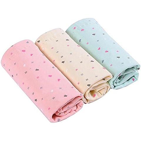 hibote 3 Pack de maternidad de algodón de algodón ropa interior ajustable de alta cintura apoyo vientre bragas enfermería