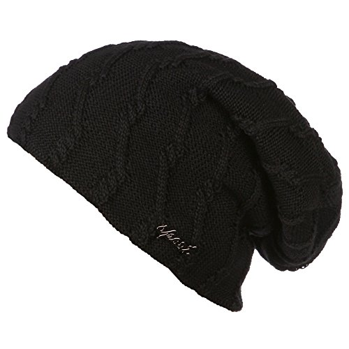 ERIC YIAN Warme Long Slouch Beanie Grobstrick Feinstrick Mütze mit sehr weichem Fleece Innenfutter (Plaid Flanell Tartan)