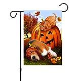 seguryy Deko-Fahne für den Außenbereich, für Herbst/Garten/Bauernhof, doppelseitig, für Herbst/Hof, Kürbis/Hof, Dekoration, Vintage-Stil, Halloween-Dekoration, 30,5 x 45,7 cm
