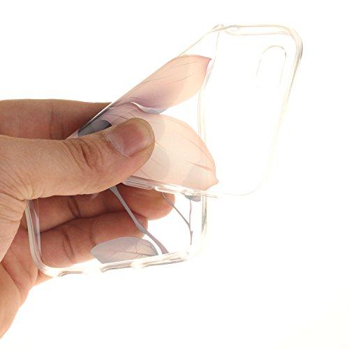 iPhone 6S Hülle,iPhone 6 Hülle,BONROY® iPhone 6 6S Silikon Hülle [Kratzfeste, Scratch-Resistant], Malerei Muster Transparent Weichem Silikon Schutzhülle Hülle Case Cover Etui Ultra Slim Skin TPU Bumpe Magnolie