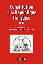 Constitution de la République française. 2020 - 17e éd. de Ferdinand Mélin-Soucramanien