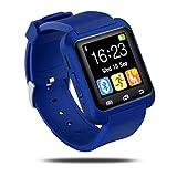 Woopower-Bluetooth-Smart-Uhr, Fitness-Tracker, Bluetooth 3.0,Touchscreen, für Android- und iOS-Smartphones, für Sport, Laufen, Frauen, Herren, Kinder, dunkelblau