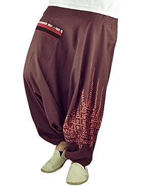 virblatt pantalones bombachos de entrepierna baja para hombres y mujeres con tatuaje spiritual y pantalones cagados...