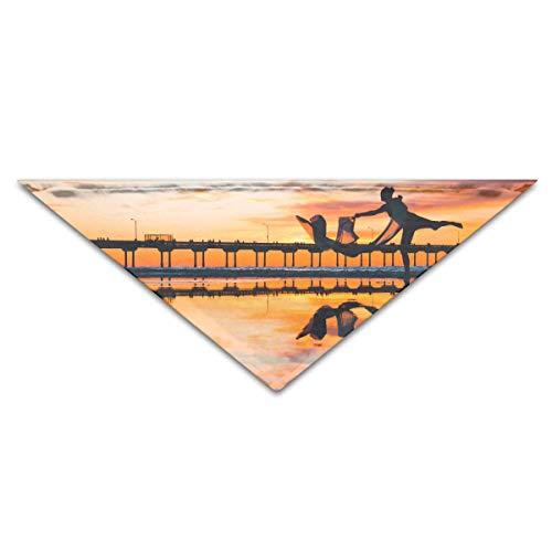 Gxdchfj Hundebandana-Schal-Dreieck-Schellfisch-Tanz-Yoga-Kopftuch, - Tanz Kostüm Muster