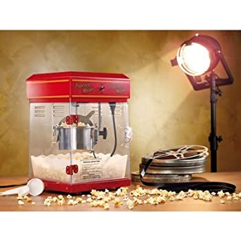 "Rosenstein & Söhne Popcornmaschine: Profi-Retro-Popcorn-Maschine""Cinema"" mit Edelstahl-Topf im 50er-Stil (Popcornmaschine Profi)"