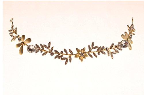 kimmyku-handmade-beautiful-fashion-wedding-party-silver-gold-rhinestone-crystal-pearl-beads-leaf-flo