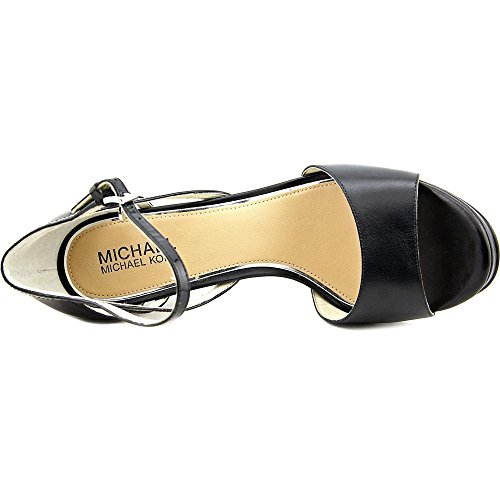 Michael Michael Kors Belle Sandal Leder Plateausandale Black