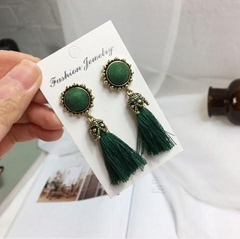 WeterCos (TM) Fashion Vintage Earrings For Women Jewelry Bright Brick
