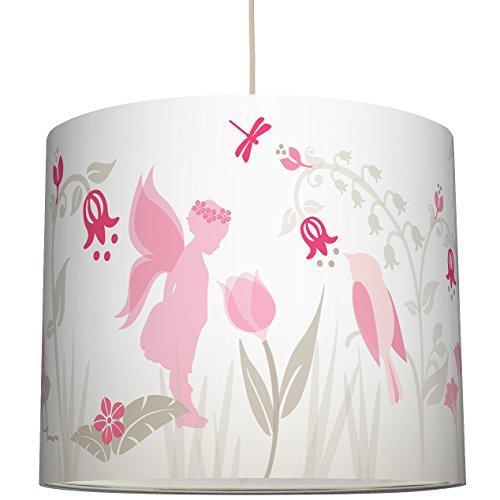 anna wand Lampenschirm LOVELY FAIRIES ROSA/TAUPE - Schirm für Kinder / Baby Lampe mit Elfen und Feen in versch. Farben – Sanftes Licht...
